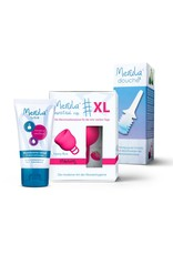 Merula Merula cup XL met Merula douche + lube - strawberry roze