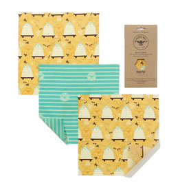 Beeswax Beeswax Food wraps medium package - 3 pieces S - M - L - reusable and durable - Copy