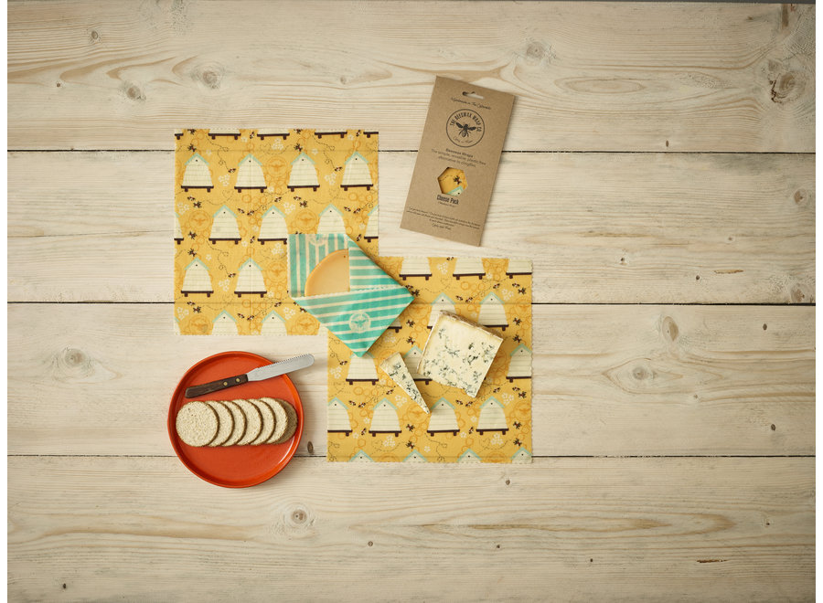Beeswax Food wraps cheese package - 3 pcs. M