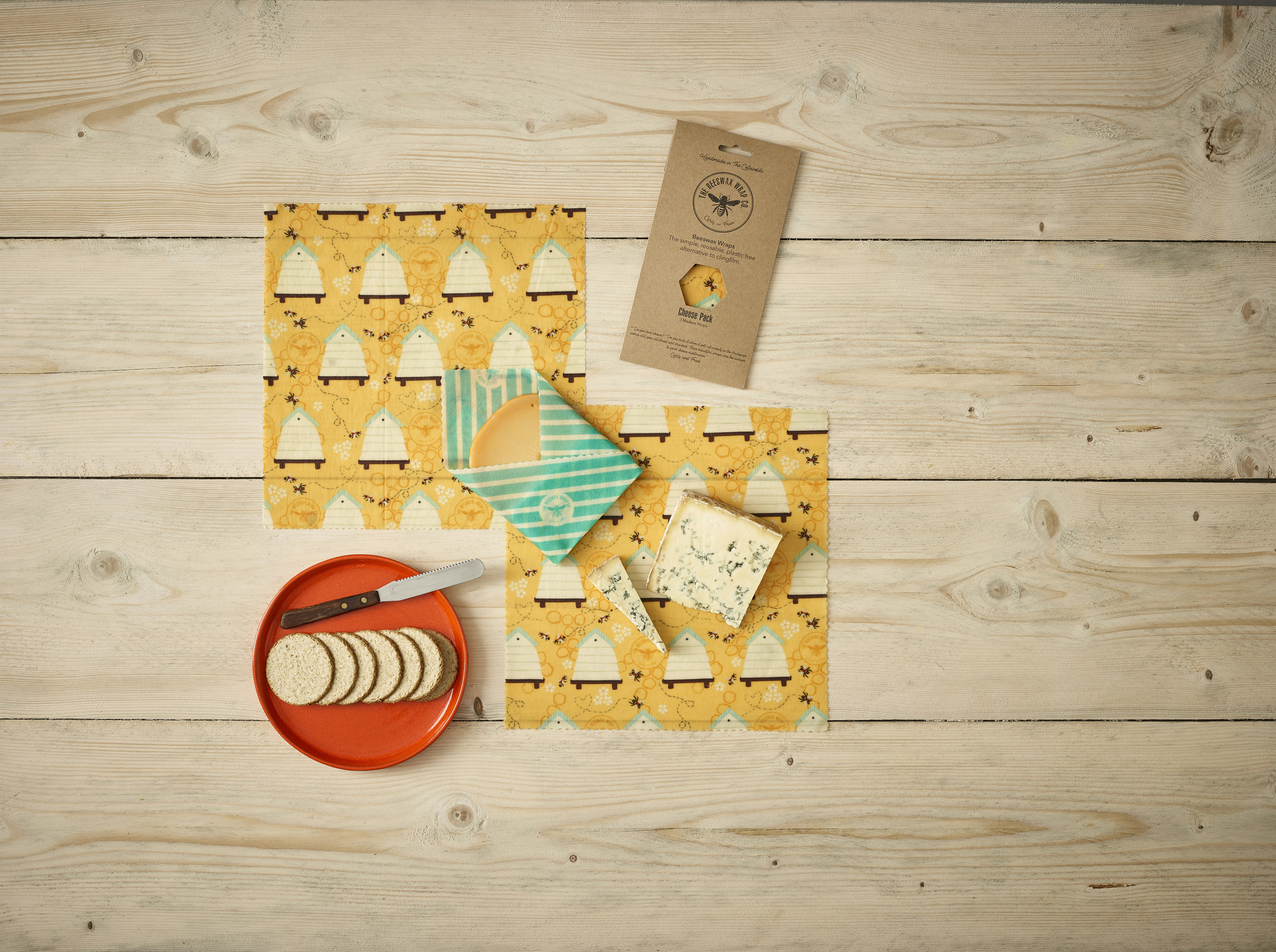 Beeswax Beeswax Food wraps medium package - 3 pieces S - M - L - medium package - reusable and durable - Copy
