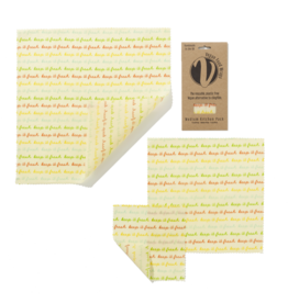 Vegan food wraps Beeswax Food wraps medium package - 3 pieces S - M - L - reusable and durable - Copy