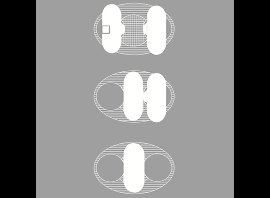 Wasbare Inlegkruisjes  - zonder sluiting - 3 Stuks - Wit