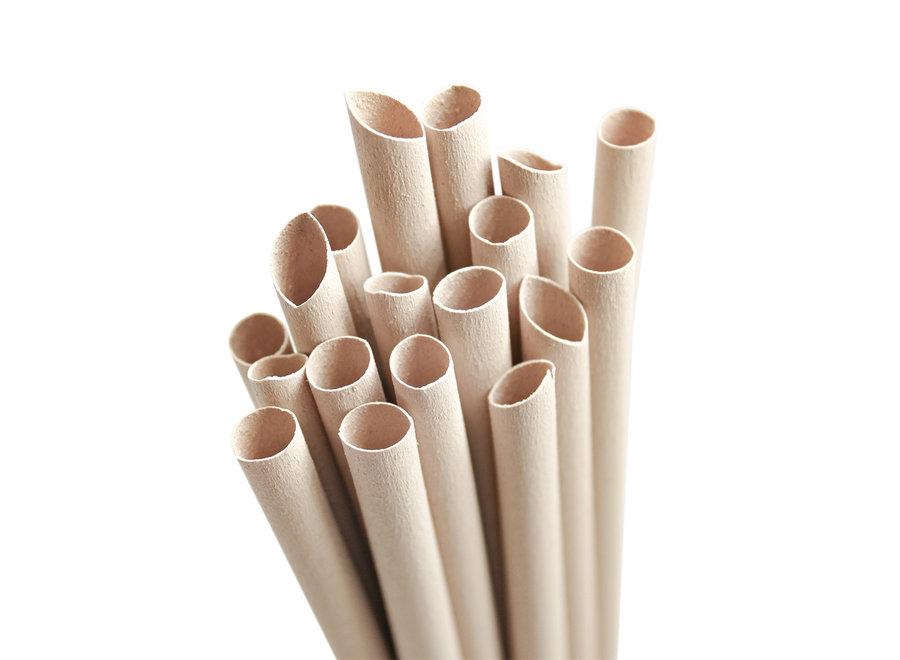Pandoo  wegwerp rietjes bamboe  - 50 stuks