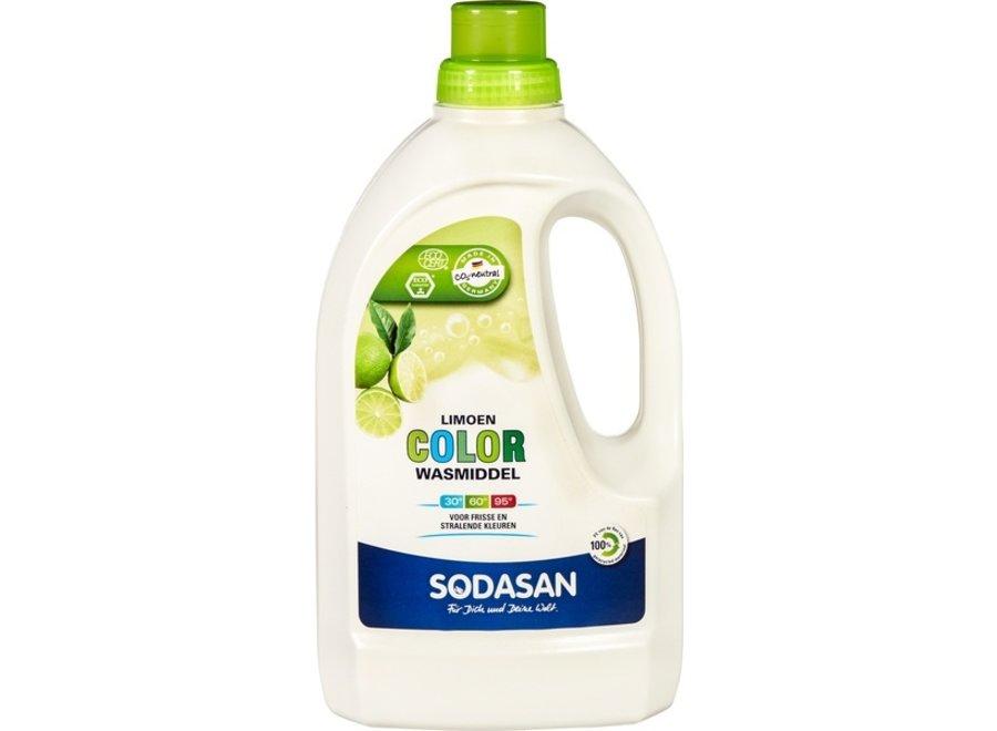 Vloeibaar wasmiddel kleur limoen 1,5 liter