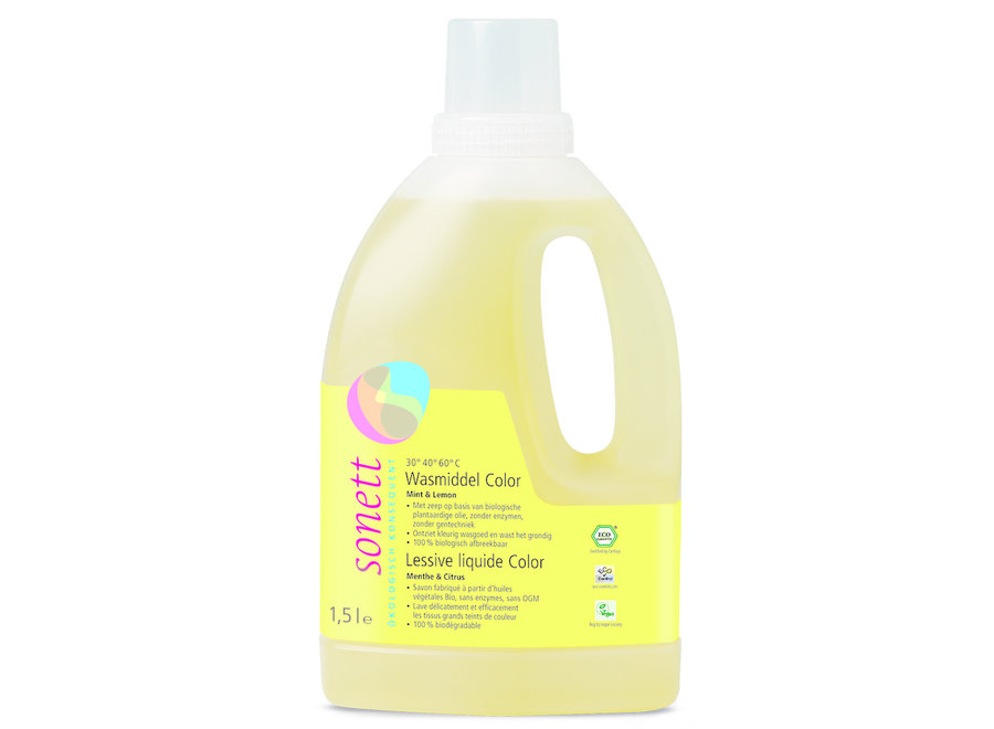 Detergent Liquid Color Lime And Mint 1 5 Liters Grace Is Green