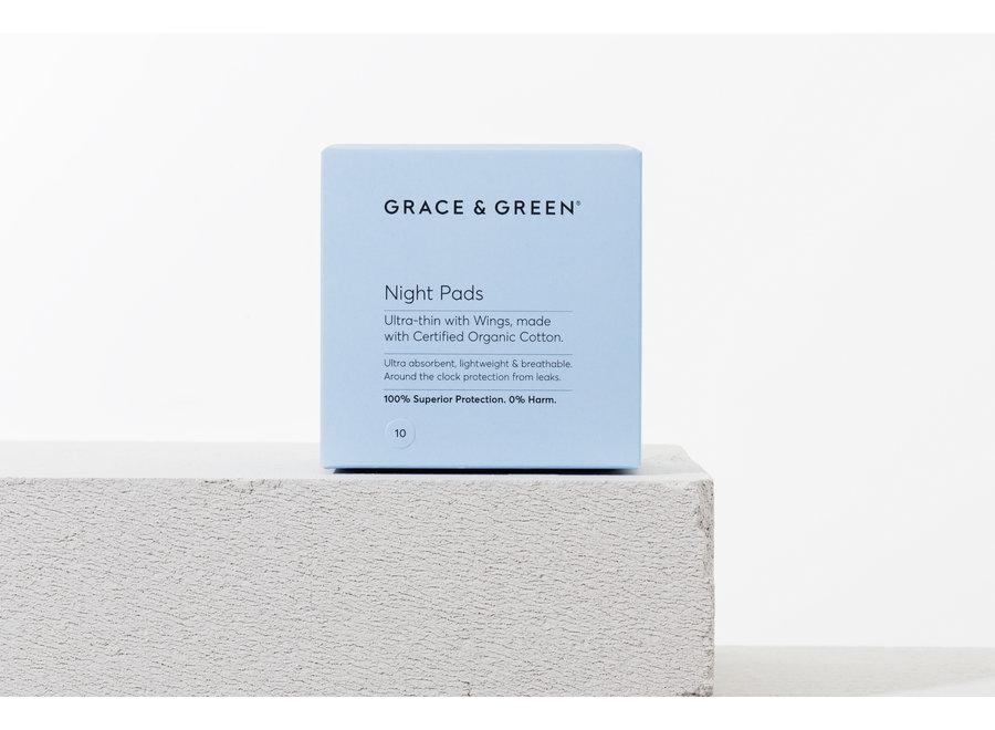 Maandverband nacht organisch katoen - 10  stuks