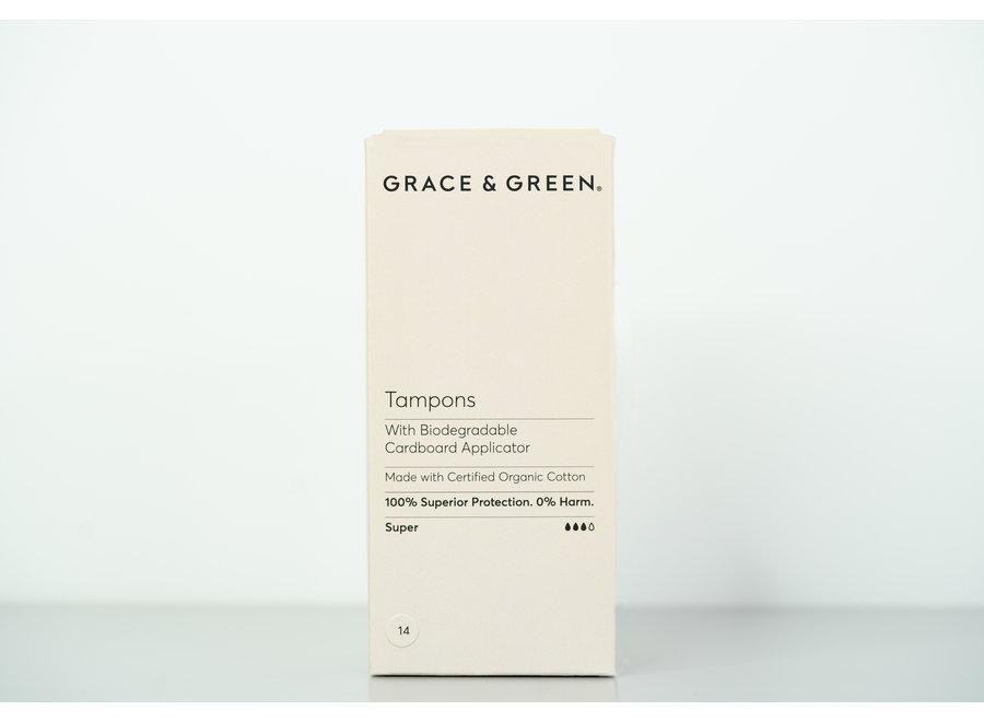 Tampons super organisch katoen + applicator  - 14  stuks