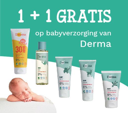Derma kortingsactie 1+1  gratis