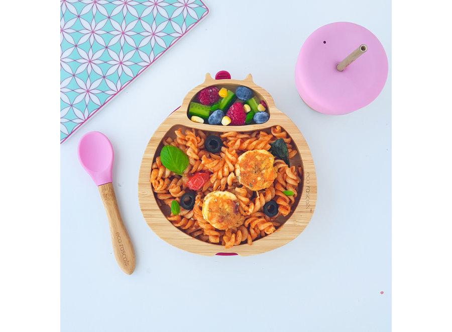 Bamboe bordje lieveheersbeestje - 6 kleuren