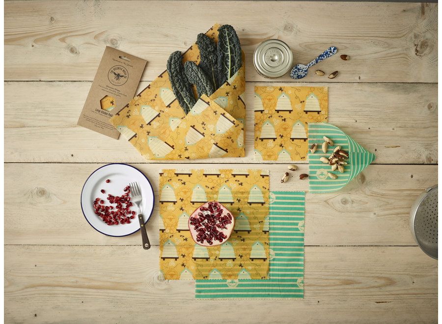Beeswax Food wraps large package - 5 pieces
