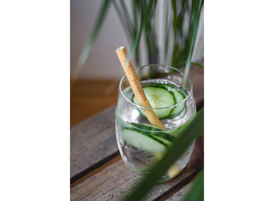 Pandoo reusable straws bamboo - 24 pieces