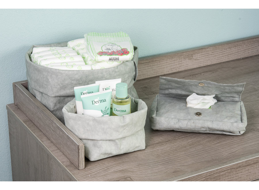Colibries Birch Cover for Baby Wipes - Denim