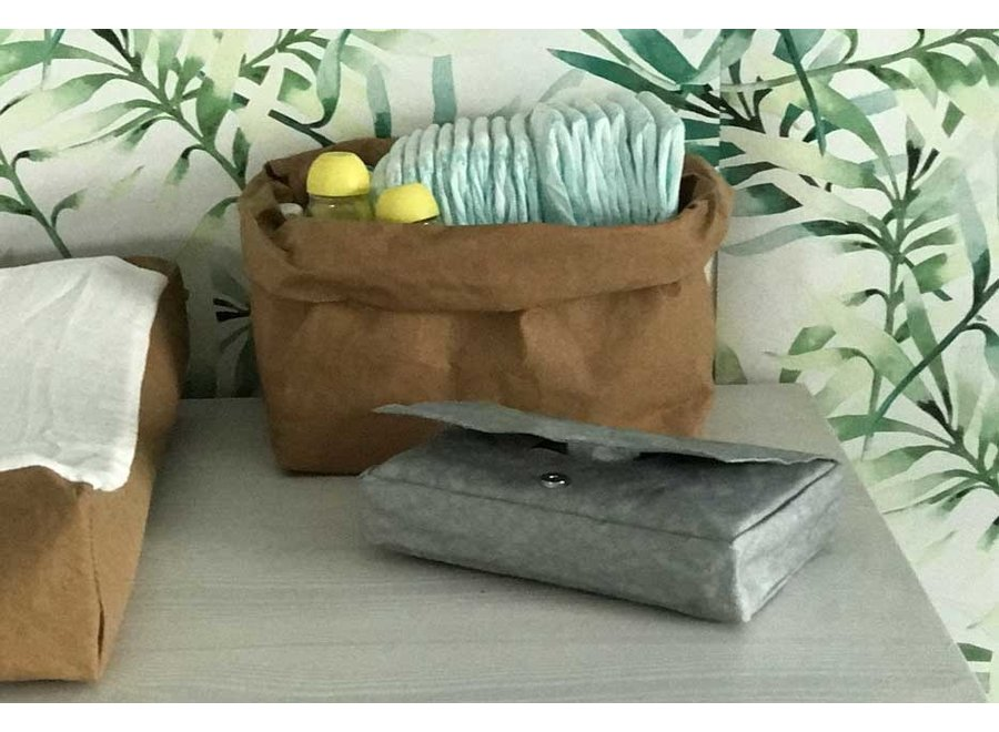 Colibries Birch Cover for Baby Wipes - Sage Green