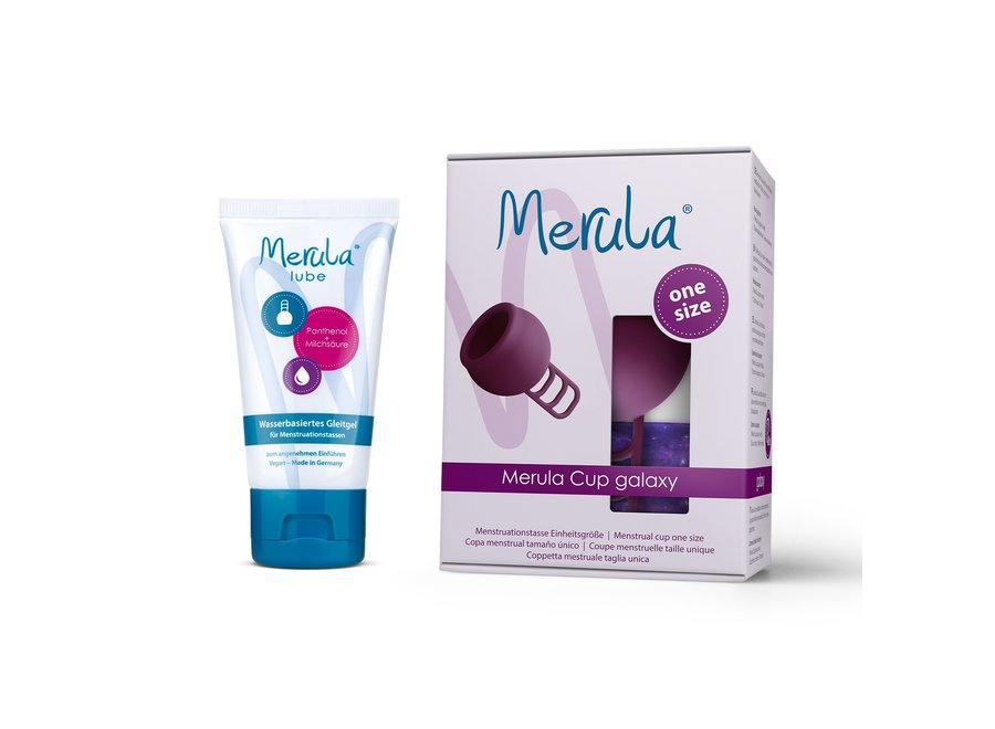 Merula Cup + Glijmiddel - 7 Kleuren