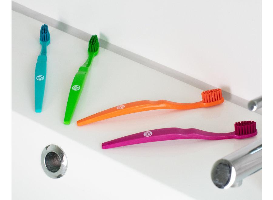 Ecologische kindertandenborstel - 4 kleuren