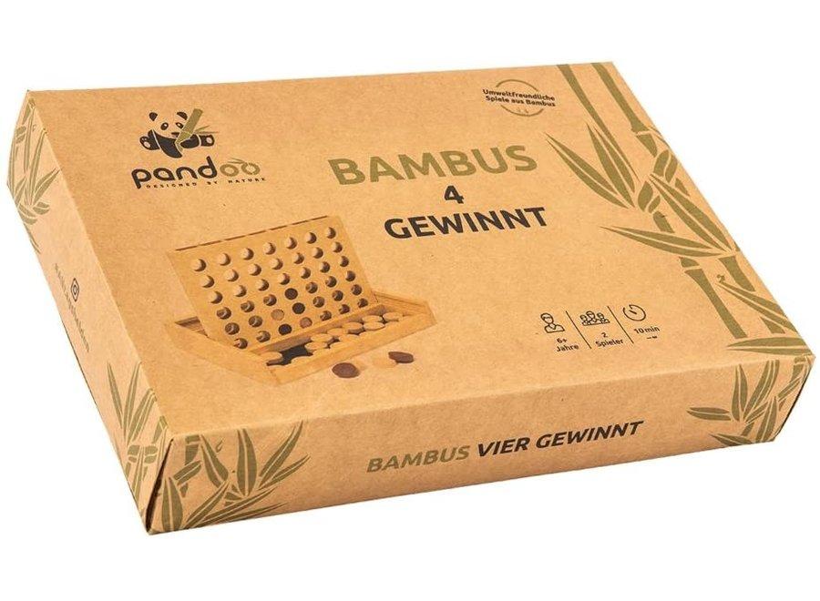 Pandoo bamboe vier op een rij - houtvrij en plasticvrij