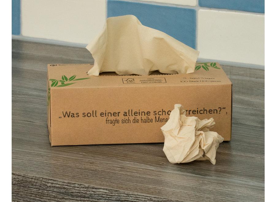 Pandoo tissues bamboe- 1 doos - 100 tissues