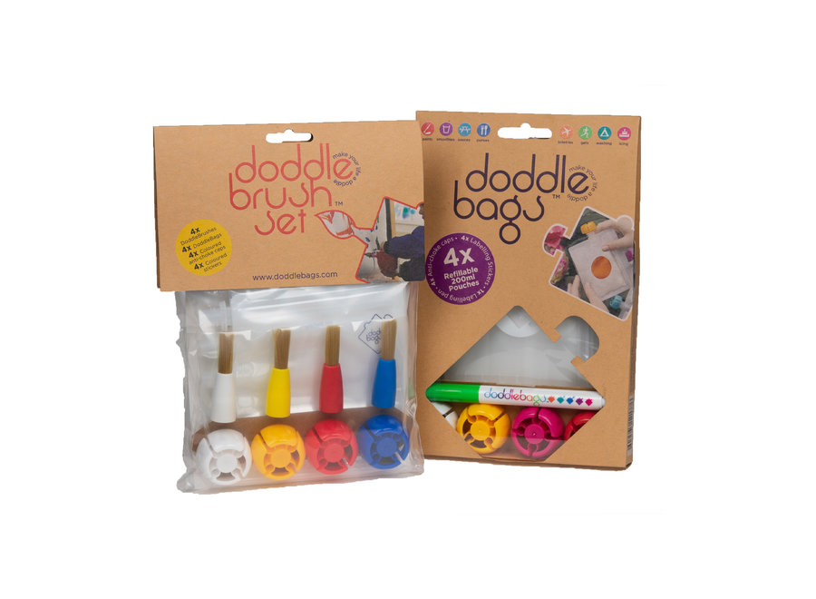 Box - DoddleBag squeeze bags 200 ml + DoddleBrush brushes