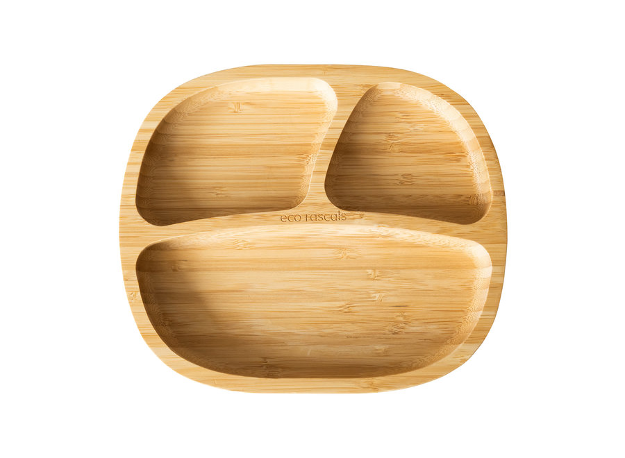 Bamboo plate - with spoon  - Copy