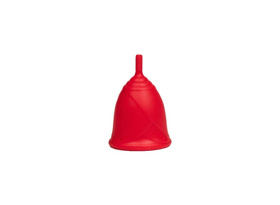 Rose Medium menstrual cup - red