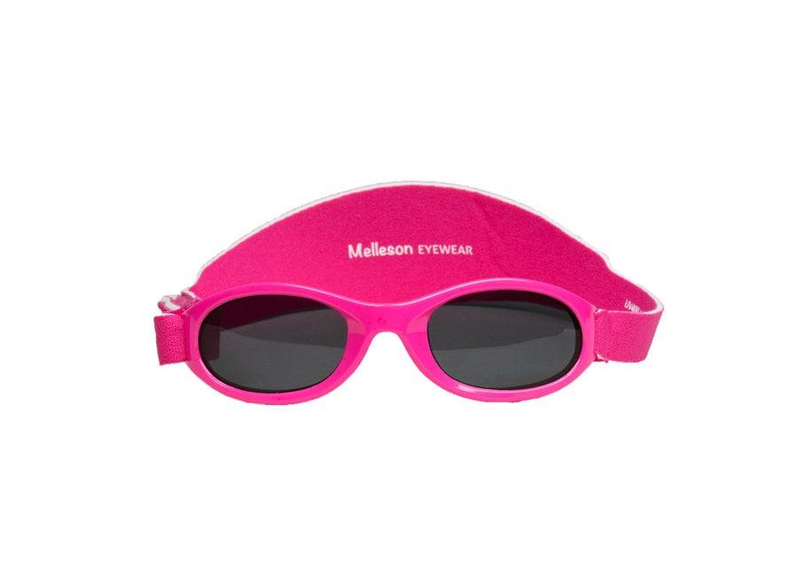 Kinderzonnebril Juul met band 0 - 3 jaar - maat S - roze