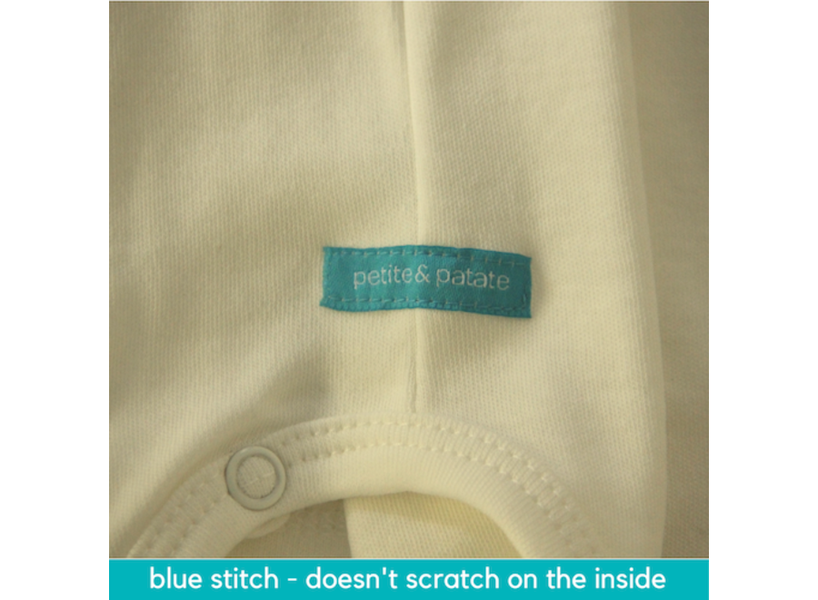 Short-sleeved wrap-over bodysuit - the blue one