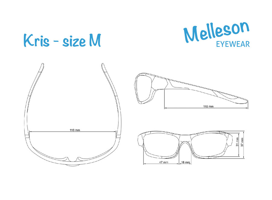 Melleson Eyewear junior sunglasses black green - child 3-8 years - children's sunglasses
