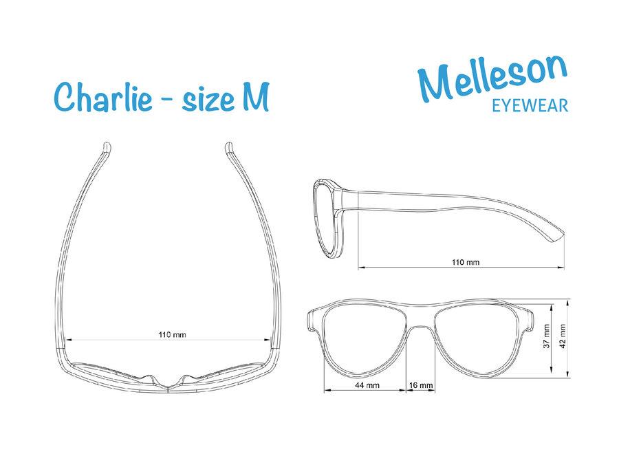 Kinderzonnebril Charlie 3 - 7 jaar - maat M - blauw