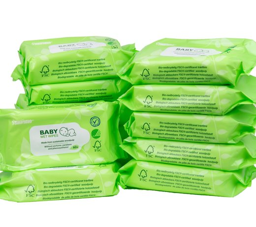 Ecological disposable wipes