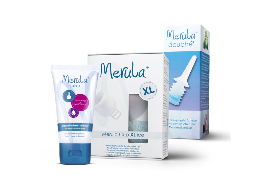 Merula Cup XL + Shower + Lube - 3 Colours