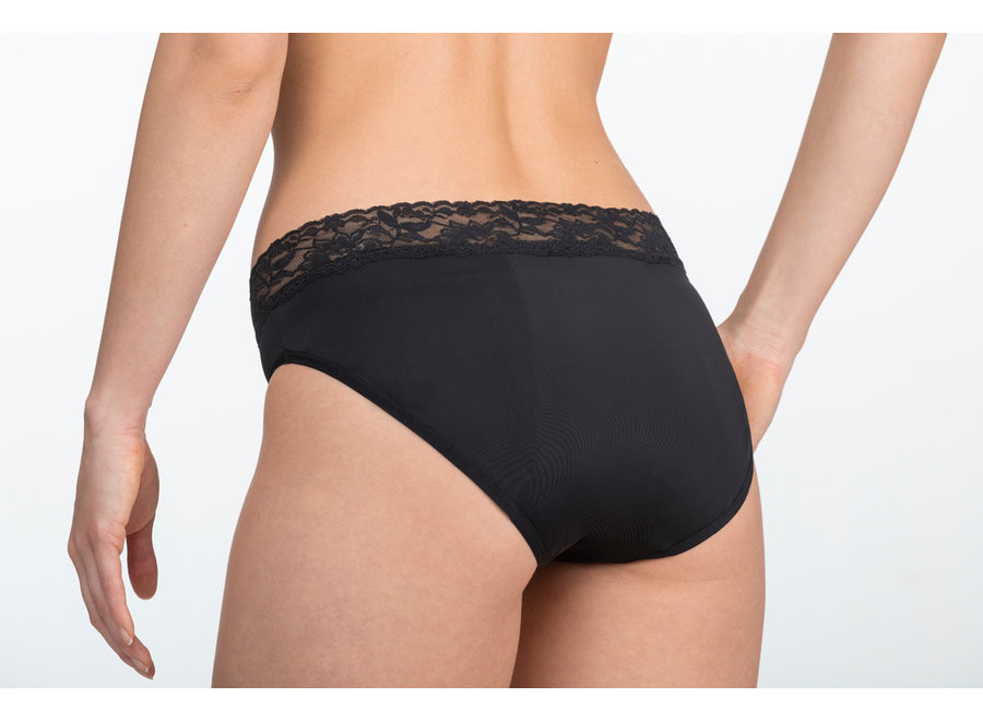 Menstruatie ondergoed Classic - zwart