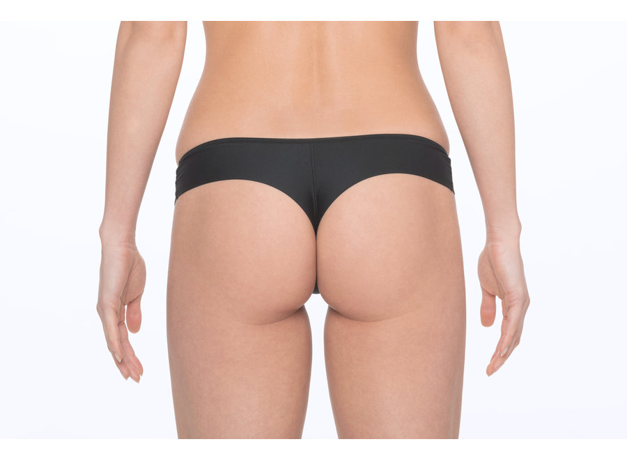 Menstrual underwear Brazilian String - black (for all days)