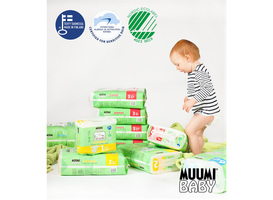 Muumi Baby Eco Disposable Diapers - size 2 - mini - 3 to 6 kg