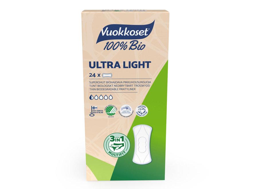 Vuokkoset inlegkruisjes  ultra light - 100% biologisch - 24 stuks