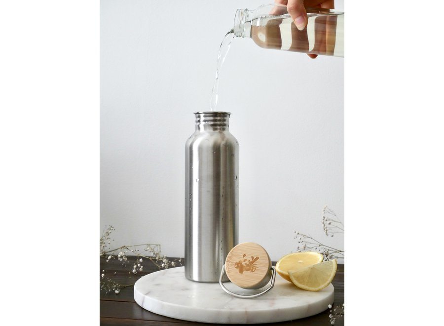 Stainless steel thermos bottle 750 ml - with or without double-walled insulation
