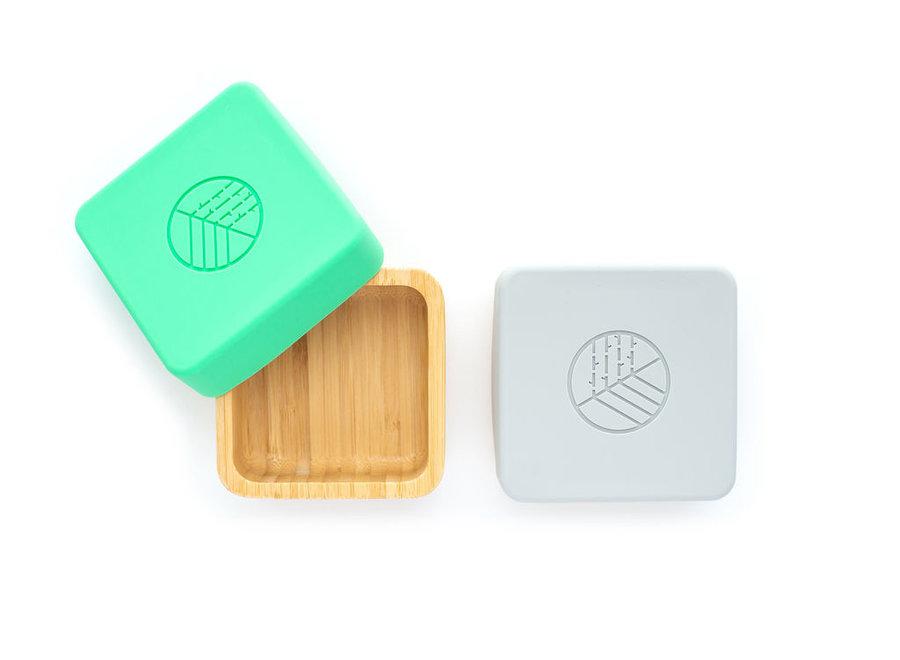 Bamboe snackbox 2 stuks - 3 kleuren