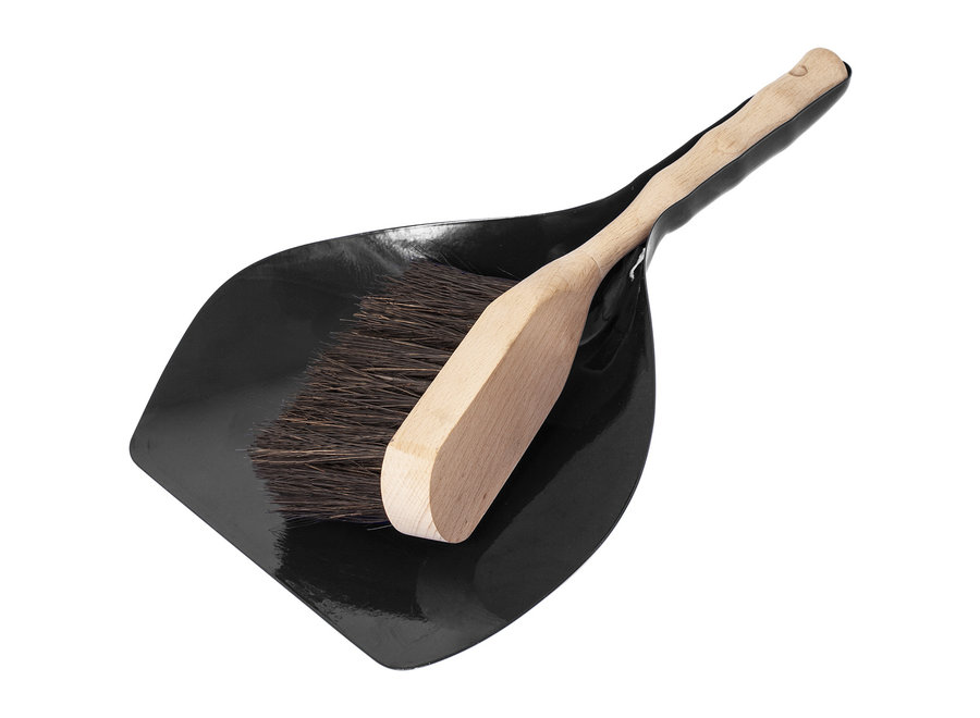 Hand brush and can - FSC & Black metal