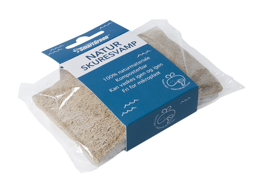 Dishwashing sponge - 1 piece - natural cellulose and loofah