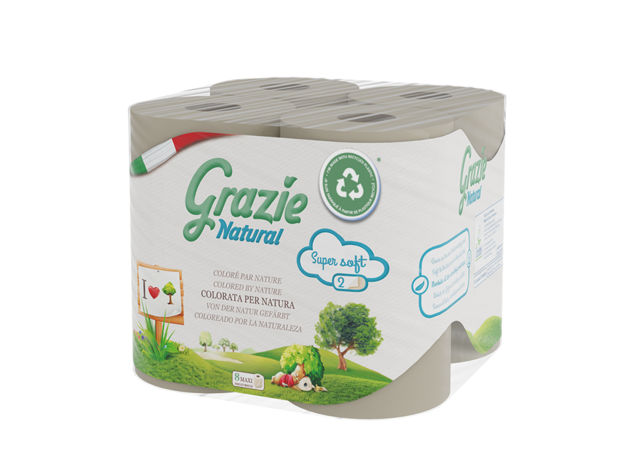 Grazie Natural toilet paper 2-layer- 8 rolls -