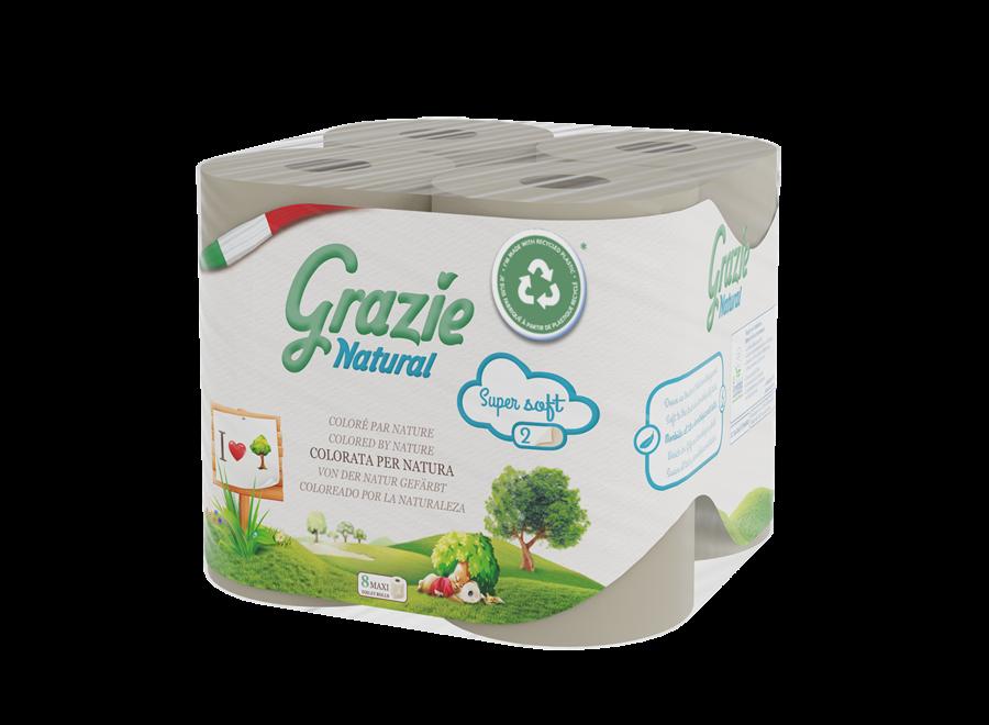 Grazie Natural toilet paper 2-layer - 8 rolls -