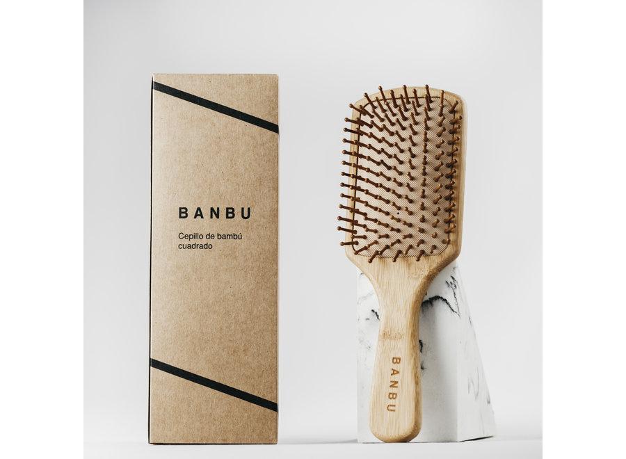 Hair brush - bamboo - square