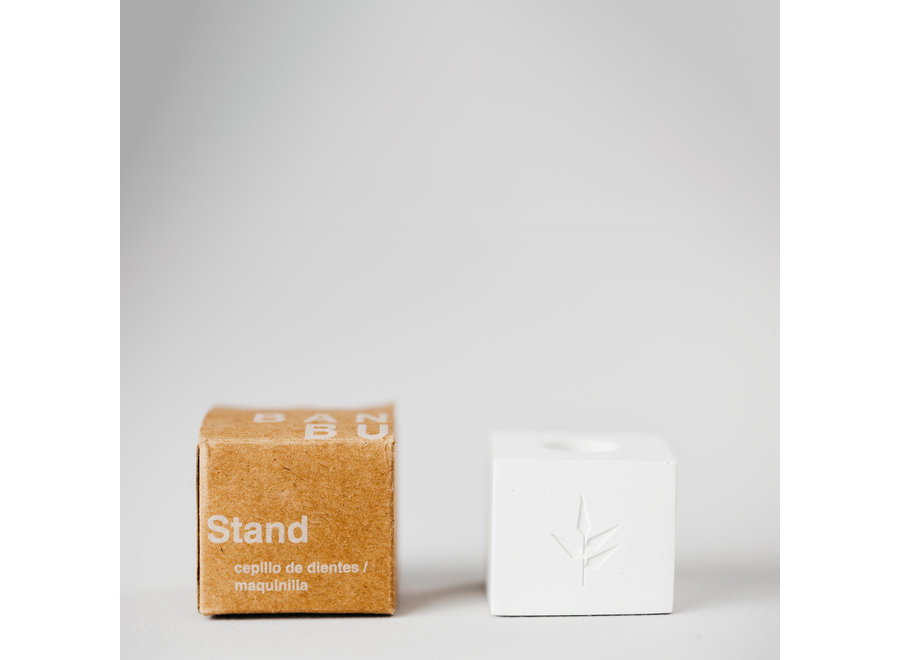 Stand - natural stone - for toothbrush or razor