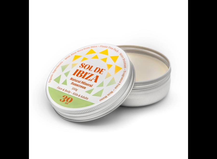 Face & Body SPF30 - Tin shape - Plastic free