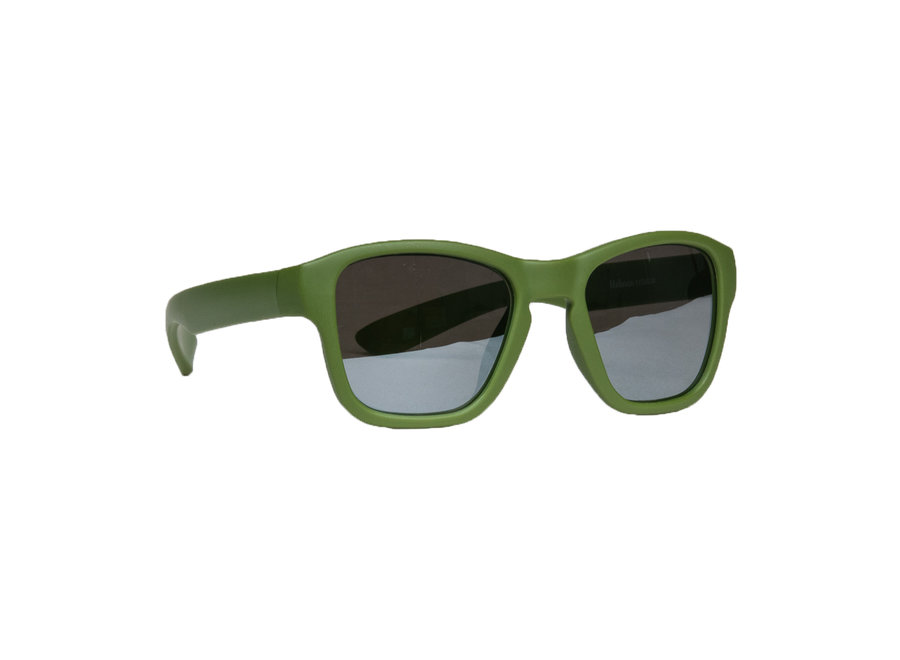 Children's sunglasses Dani 3-7 years - size M - Moss green with mirror coated lenses