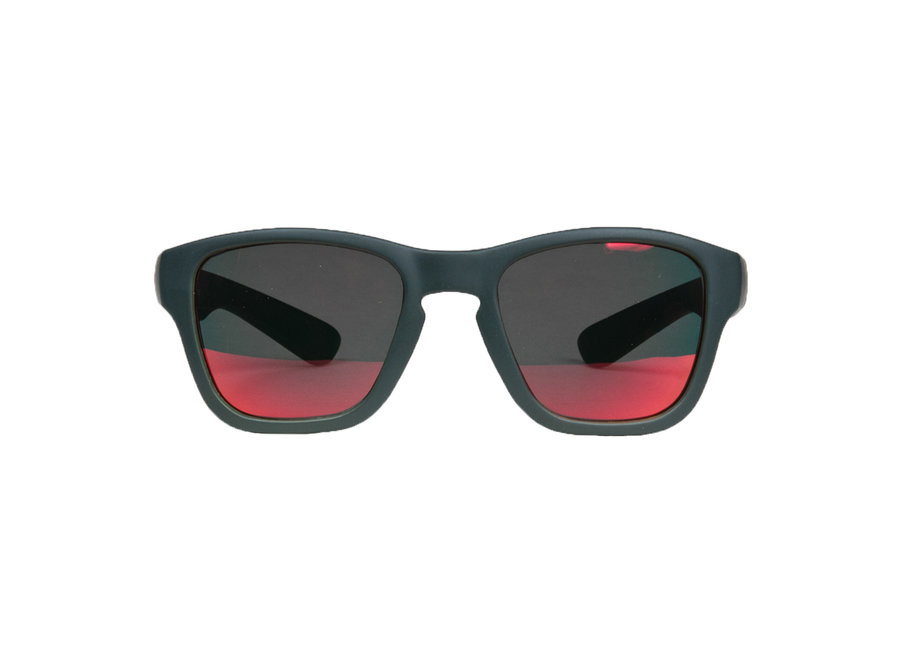 Children's sunglasses Dani 7+ years - size L - Dark gray with black / red revo coated lenses