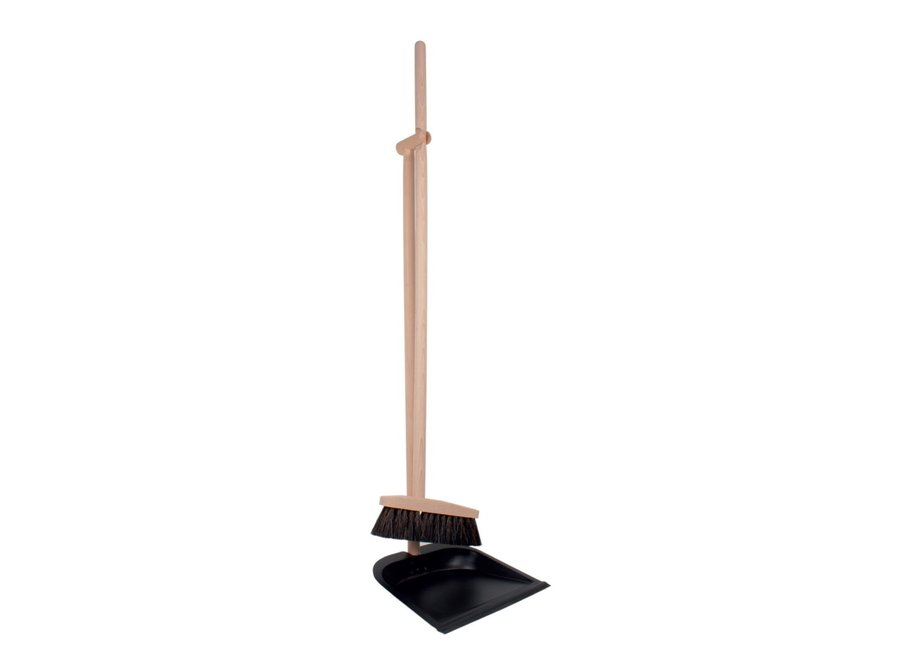 Hand brush and can - FSC & Black metal - Long