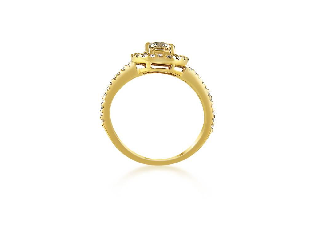 18kt geel goud verlovingsring met 1.32 ct diamanten