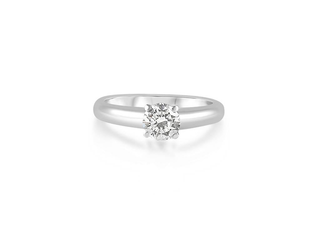 18 karaat wit goud verlovingsring met 0.59 ct diamant