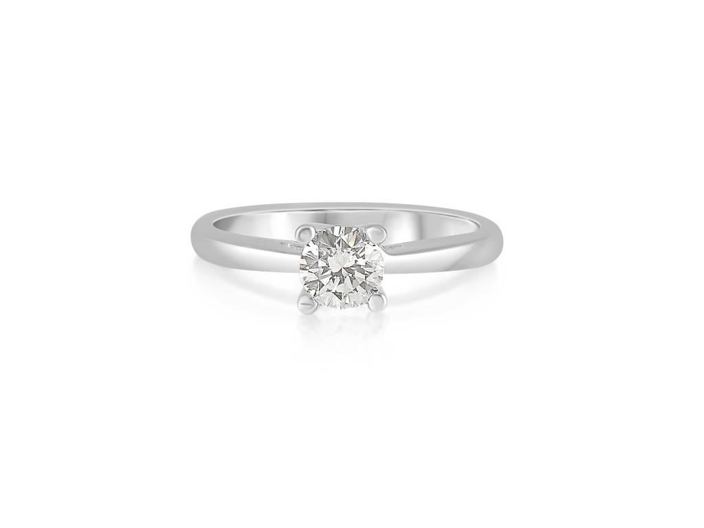 18 karaat wit goud verlovingsring met 0.51 ct diamant