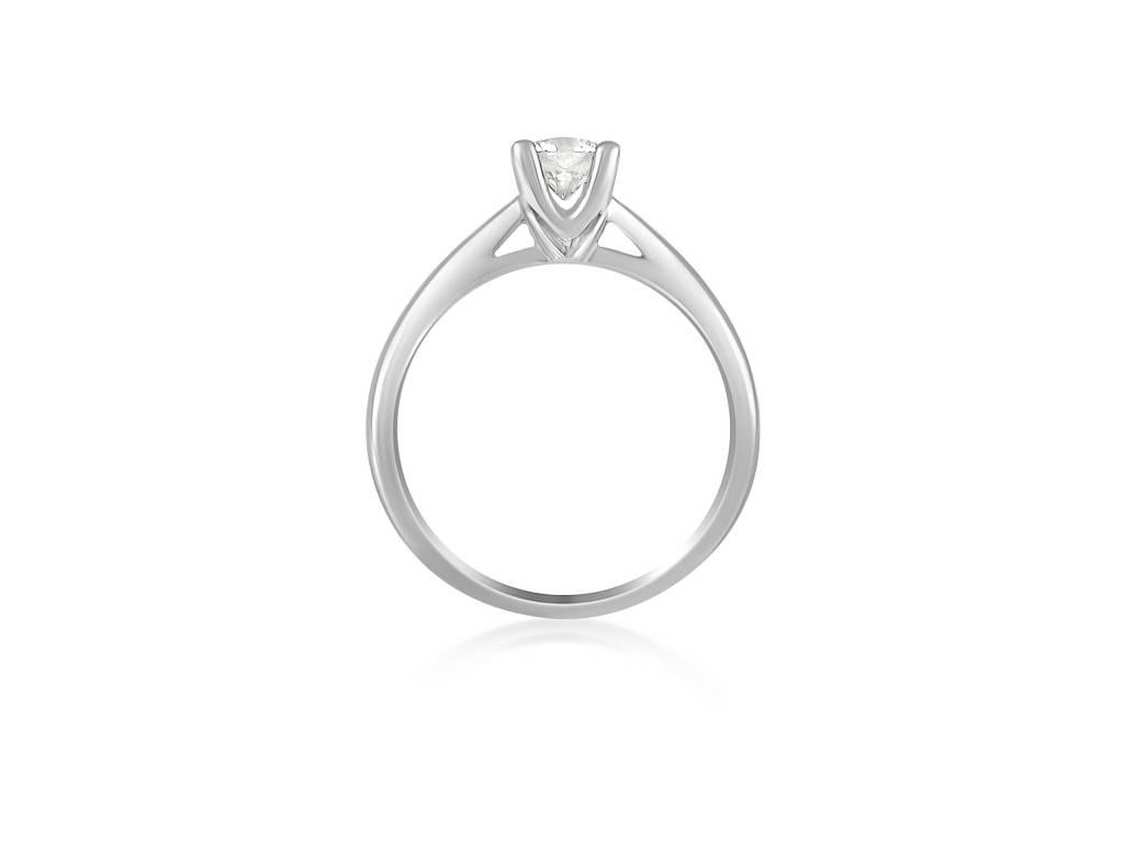 18k wit goud verlovingsring met 0.51 ct diamant